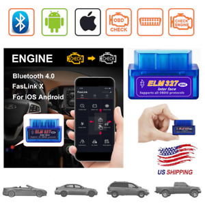 Obd2 Car Bluetooth Scanner Code Reader Obdii Elm 327 Diagnostic Tool Ios Iphone