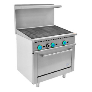 36 Inch Commercial Gas Range Charbroiler With 1 Oven R36 cb free Shipping