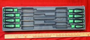 Snap On Long Screwdriver Set 8 Piece Green Instinct Handle Set Sgdxl80b