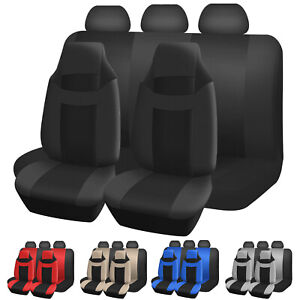 Universal High back Car Seat Cover Full Front Bucket Seat Rear Bench Covers