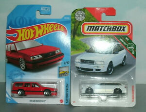 Two 1 64 Scale 1990 s European Car Estate Wagons audi Avant Rs2 And Volvo 850