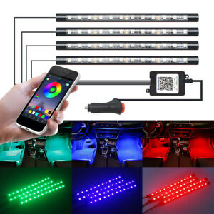 Combo 48 Led Lights Strip Atmosphere Rgb Control By App Bluetooth Car Atv Light