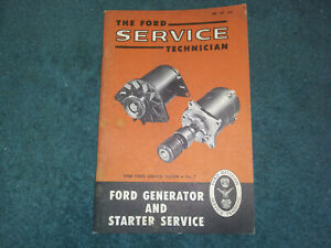 1960 Ford Car Truck T bird Generator Starter Service Shop Manual Original