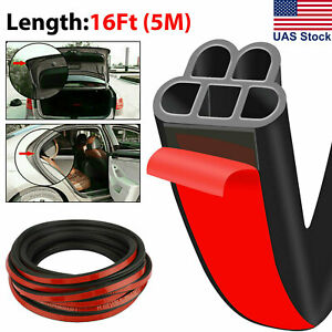 5m L shape Auto Car Door Trunk Seal Strip Rubber Weather Strip Edge Universal
