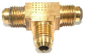 Big A Service Line 3 144400 Brass Pipe Flare Tee Fitting 1 4 X 1 4 X 1 4