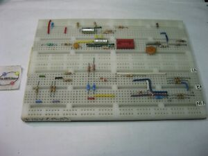 Solderless Breadboard Proto board 6 5x4 5 Metal Base Fits Hp Logic Lab 5035 Used