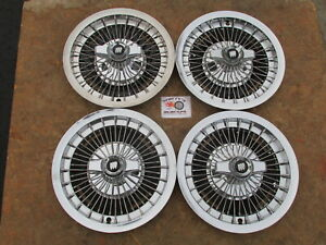 1964 1965 1966 Buick Lesabre 15 Wire Spinner Wheel Covers Hubcaps Set Of 4