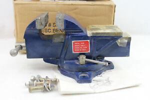 4 Bench Top Vise With Large Anvil Swivel Locking Base Work Central Forge S3794