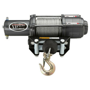 Viper Max Widespool 5000lb Winch 1 4 X 40 Steel Cable
