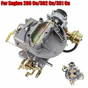 Two 2 Barrel Carburetor Carb 2100 For Ford 289 302 351 Cu Fit Jeep Engine