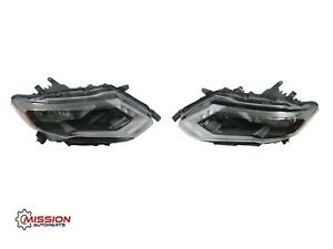 For 2017 2018 2019 Nissan Rogue Headlights Halogen W led Drl Right And Left Set