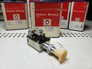 Nos Vintage Delco Remy Two Position 6 Volt Fused Headlight Switch Hot Rod Usa