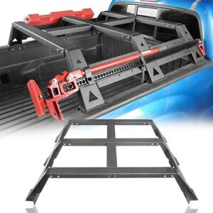 Truck Top Rear High Bed Steel Roll Cross Bar Fit 05 21 Toyota Tacoma Pickup