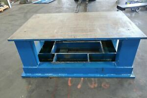 Heavy Duty 1 1 4 Thick Top Steel Fabrication Welding Table Work Bench 77 X 47