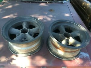 Vintage Et Ii Spoke Wheel Vintage Mags Pair 14x7 Unilug Gasser Muscle Car