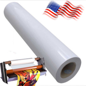 Glossy Cold Laminating Film Monomeric 3 15mil Paper Adhesive Glue 54 x50yds