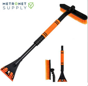Ice Scraper With Brush For Car Truck Windshield Snow Removal Telescoping Broom