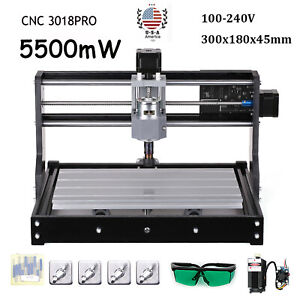 Cnc 3018pro Diy Kit Engraving Router Carving Milling Cutting Machine 5500mw S2a5