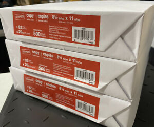 Staples Copy Paper 8 5 X 11 Printer Paper 20 Lbs 92 3 Pack reams 1500 Sheets