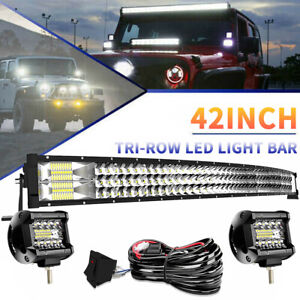 42 inch 900w Spot Flood Led Light Bar Pods Offroad For Jeep Ford 4wd Suv Atv 40