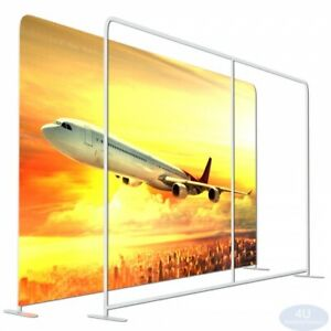 8x10ft straight Booth Exhibit Show Tension Fabric Easy Tube Display Wall Stand