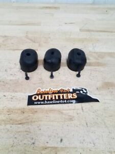 Jeep Tj Wrangler Rear Spare Tire Rubber Bumpers Set Of 3 2004 2005 2006 36491