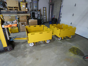 2 Shop Carts Trailer s Towable Front And Rear Hitch