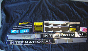 674 International Tractor 674 Ih Complete Decal Set High Quality