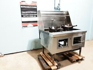 Imperial Hd Commercial 44 w Nat Gas 2 Jet Burners Chinese Style Wok Stove