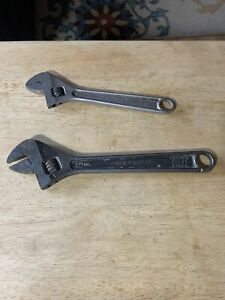 Proto 708 And 710 Adjustable Wrenches 8 10 Inch Usa