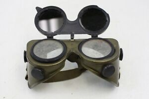 Welding Goggles Vintage Safety Steampunk Clear Lenses Flip Up Tinted Lens m75