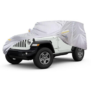 Large Suv Car Cover Outdoor Waterproof Dust Rain Uv Protection For Jeep Wrangler