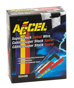 Accel 5040b Spark Plug Wire Set Blue