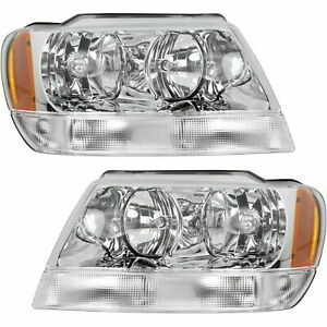 New Head Lamp Assembly Fits 1999 2004 Jeep Grand Cherokee Left Right Side