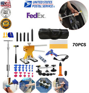 Car Auto Body Paintless Dent Repair Removal Kit Golden Puller Lifter Pulling Usa