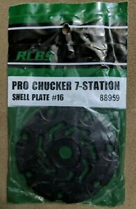 RCBS Pro Chucker 7 Station Shell Plate #16 9mm Luger 30 Mauser 30 Luger amp; More $39.99