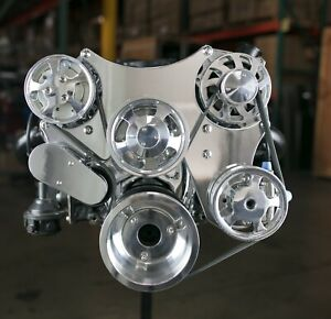 Sbc Serpentine Front Runner Pulley Drive Kit Polished Chrome A C P S W Reservior