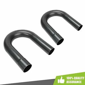 2pack 2 5 180 Degree U Bend Mild Steel Mandrel Piping Exhaust Pipe Tubing