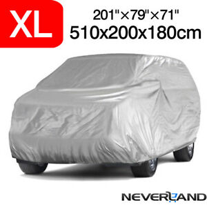Xl Large Waterproof Full Car Truck Cover Rain Uv Resistant Protection Outdoor