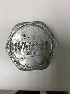 Whippet Grease Cap Wood Wheel Center Cap Hubcap Red Overland Collectable