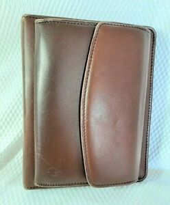 Vintage Franklin Covey Planner Full Grain Leather Cover Brown