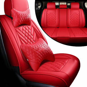 Luxury Car Seat Cover Pu Leather Protector Front Rear Cushion For Toyota Camry
