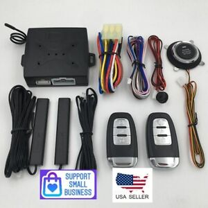 Universal Car Alarm Start Security System Keyless Entry Push Button Remote Kit