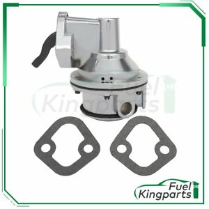 For Chevrolet Sbc 350 Chrome High Volume Mechanical Fuel Pump 3 8 Npt Fitting