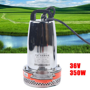 10m 36v Submersible Water Well Pump Irrigation Pump 350w Electric High Pressure