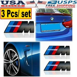 For Trunk And Fenders M Sport Badge 3d Decal 1 3 Pcs Bmw M Logo Emblem Badge Usa