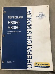 New Holland Windrower H8060 H8080 Operators Manual