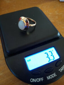 ESTATE Vintage 10k Yellow Gold Opal Ring 3.3 g Scrap Or Wear Size 4 1 2 $125.00