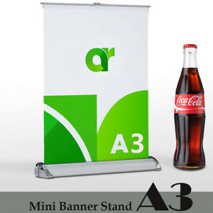4 Pack mini Table Top Retractable Trade Show Display Banner Stand A3 11 x17