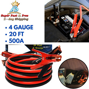 Battery Jumper Cables Heavy Duty Booster Jump Start Cable Kit For Cars Truck Suv